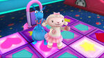 Lambie and stuffy in a dancing game