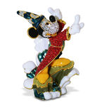 Sorcerer Mickey Mouse Figurine on Wave by Arribas - Jeweled