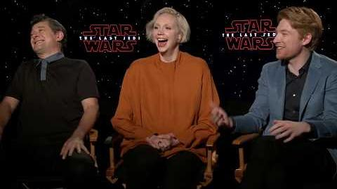 Star Wars The Last Jedi Gwendoline Christie & Domhnall Gleeson Interview