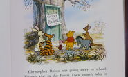 Winnie the Pooh and the others all found out and learned that Christopher Robin is at school