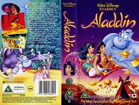 Aladdin UK VHS Cover
