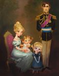Die köngliche Familie Portrait