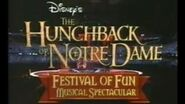 Disney's The Hunchback Of Notre Dame Festival Of Fun Musical Spectacular