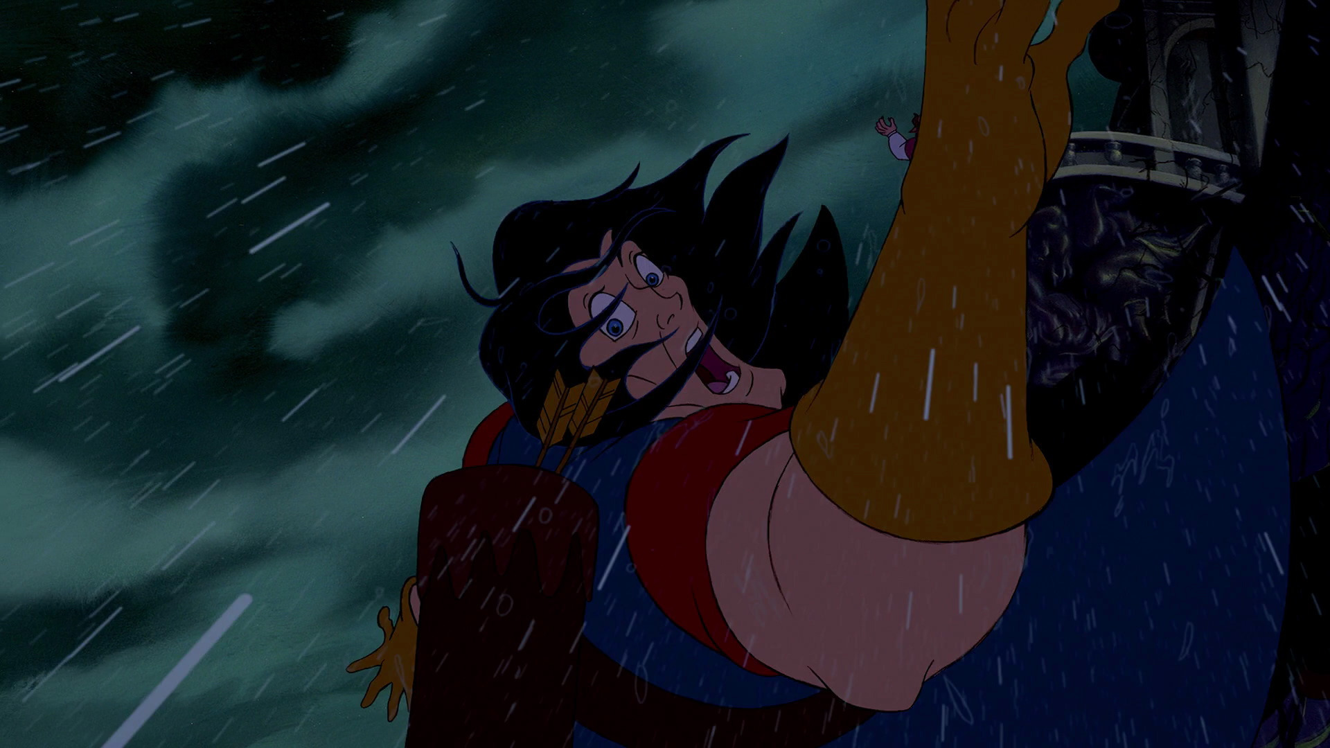 Image Gaston S Death Jpg Disney Wiki Fandom Powered
