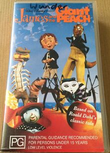 James and the Giant Peach 1997 AUS VHS