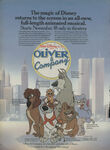 Oliver & Company print ad from 1988 Sears Christmas Catalog