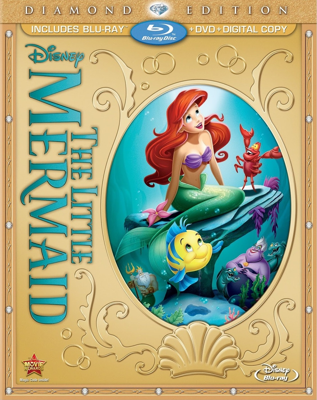 Disney's the little mermaid: diamond edition coming to blu-ray.