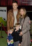 Joel McHale & Family Muppets premeir