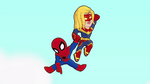 Spider-Man and Captain Marvel in Marvel Super Hero Adventures