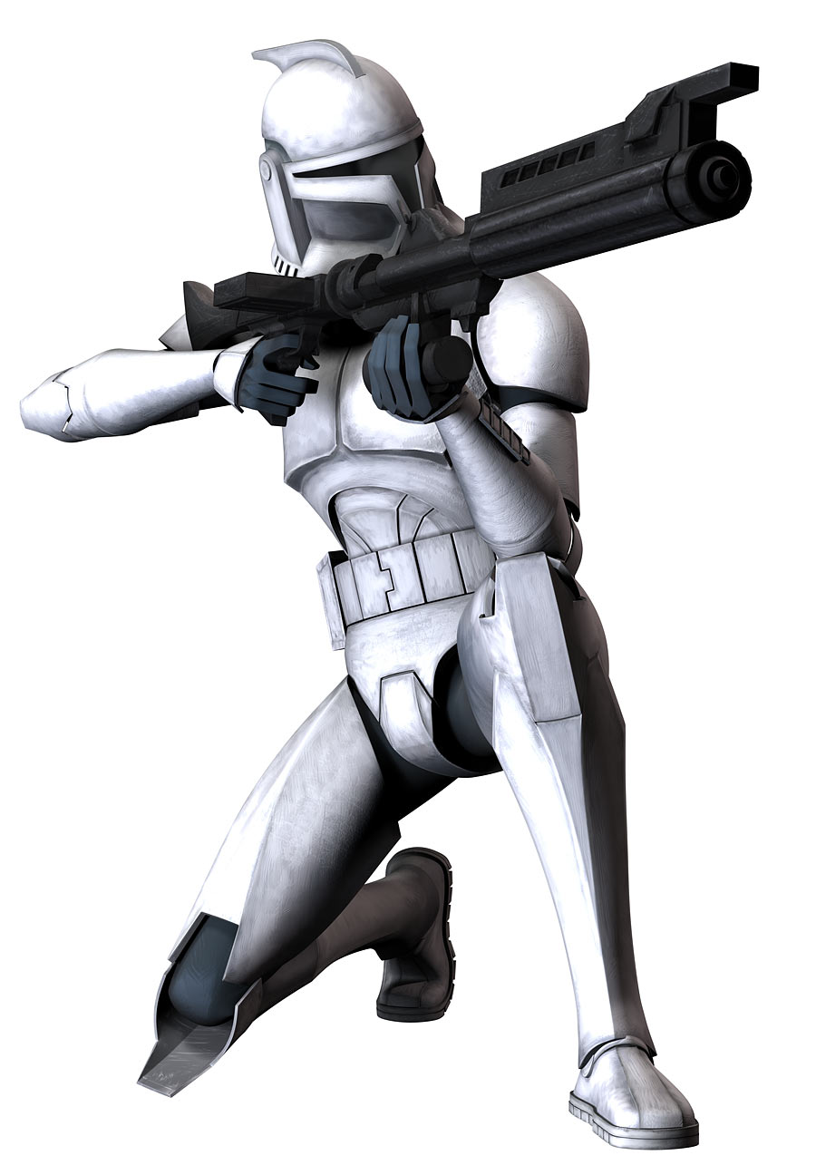 Attractive Clone Trooper With Blaster