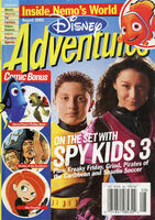 Disney Adventures Magazine cover August 2003 Spy Kids 3