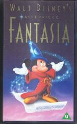Disney Fantasia (1940) (1991 UK VHS COVER)