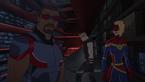 Falcon, Hawkeye, Captain Marvel - Triple Face(Secret Wars 002)