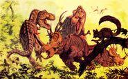Hallet dinosaur painting