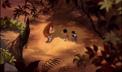 Shere Khan confronting Mowgli Shanti & Ranjan