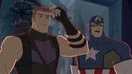 Avengers Assemble Cap and Hawkeye