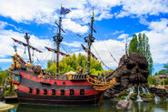 Captain Hook's Ship and Skull Rock Paris