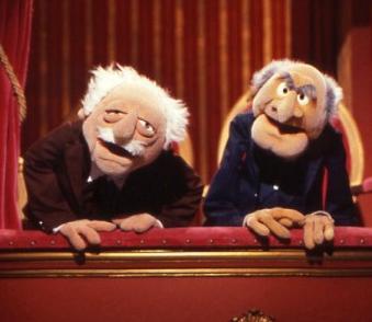 Resultado de imagen para viejitos de los muppets