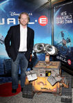Andrew Stanton with WALL-E at movie premiere