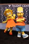 Bart and Lisa Simpson at D23 Expo