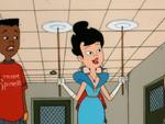 Spinelli in her formal wear