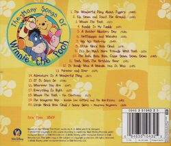 The many songs of winnie the pooh back cover