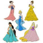 Disney Princess Designer Doll Collection Pins (2)