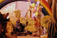 Filming muppet movie finale