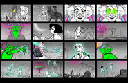 Painter's Block storyboards