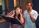 Phil LaMarr & Anndi McAfee recording booth