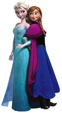 Elsa Anna pose 1