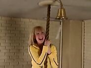 Maddie climbing rope
