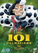 101 Dalmatians Disney Villains 2014 UK DVD