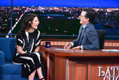 Cobie Smulders visits Stephen Colbert