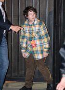 Frankie Jonas arrives outisde his bros concert
