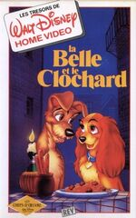 Lady and the Tramp 1990 France VHS