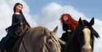 Mérida y la Reina Ellinor montando a caballo