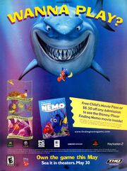Finding Nemo video game print ad NickMag May 2003