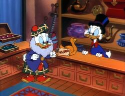 Glomgold tries to buy the Golden Goose