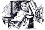 Original book illustration of cruella de vil