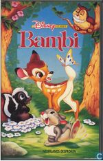 Bambi 1994 Dutch VHS