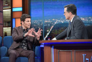 James Marsden visits Stephen Colbert