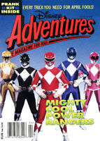 Disney adventures magazine cover april 1994 power rangers