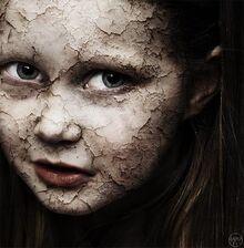 Creepy girl before