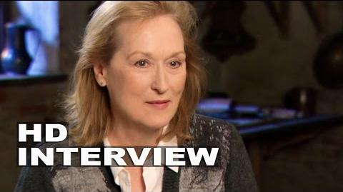 """Into the Woods Meryl Streep """"Witch"""" Behind the Scenes Movie Interview 2"""