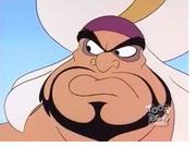 Razoul looks at Aladdin that Iago is taking order him