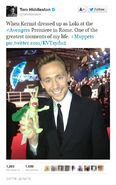 Tom Hiddleston Kermit Loki