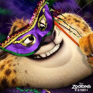 Zoomania Clawhauser Mardi Gras