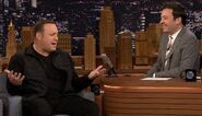 Kevin James visits Jimmy Fallon