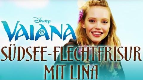 Südsee-Flechtfrisur mit Lina Haarstyling wie Vaiana Disney HD